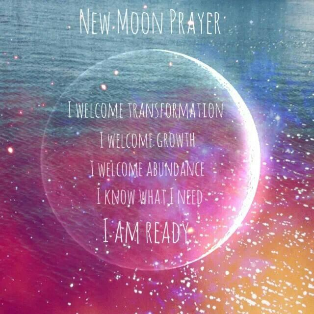 Prece da Lua Nova Eu recebo a transformação Eu recebo o crescimento Eu recebo a abundancia Eu sei o que eu preciso E eu estou pronto!